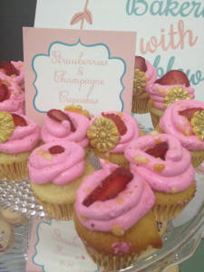 Strawberries & Champ Cupcakes