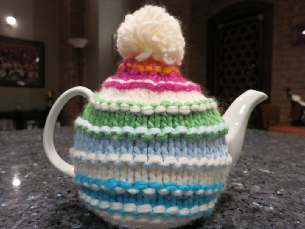 Cute sweater teapot from David's Tea